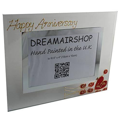 (Dreamair 40th Anniversary Photo Frame: Land (Flower) (Ruby Wedding Anniversary))