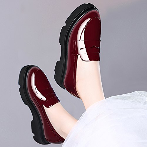 HUAIHAIZ Damen High Heels Pumps Dick PU Damen Schuhe High Heels Casual Schuhe mit Hohen Absätzen Abend Schuhe