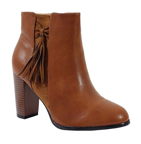 Indien Femme Style Cuir By Shoes Effet Bottine qwC4T61