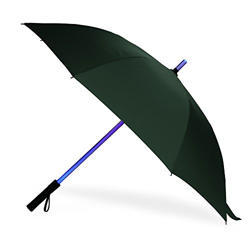 BESTKEE Lightsaber Umbrella - LED Laser Sword Golf Umbrellas with 7 Color Changing On The Shaft/Built in Torch at Bottom (Green) (Best Led Torch Review)