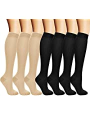 arteesol Compression Socks Women Men Stockings 7 pairs for Odema Comfortable and Durable Design for Flight & Travel, Sports & Outdoor, Nursing and Pregnancy