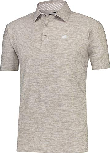 - Three Sixty Six Golf Shirts for Men - Dry Fit Short-Sleeve Polo, Athletic Casual Collared T-Shirt Khaki