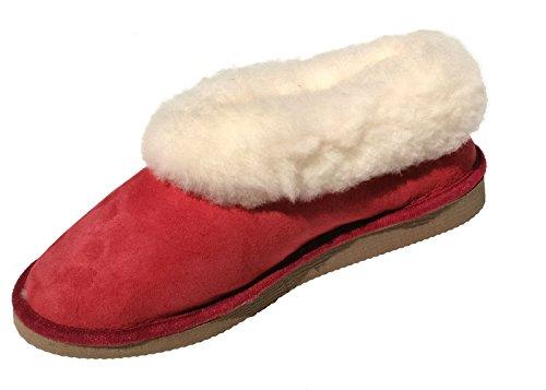 tannage naturel rouges fourrés chaussons mouton peau de femmes wxU0qTPqY