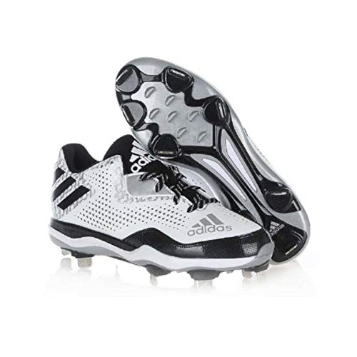 online store 9675a 75f15 adidas New Mens PowerAlley 4 Baseball Metal Cleats White Black Silver Size  16 M