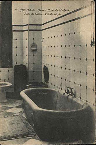 Grand Hotel de Madrid - Bathroom Sevilla, Spain Original Vintage Postcard