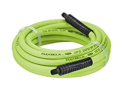 Flexzilla Air Hose, 38 In. X 25 Ft., 14 In. Mnpt Fittings, Heavy Duty, Lightweight, Hybrid, Zillagreen - Hfz3825yw2