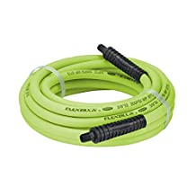 """Legacy Manufacturing HFZ3825YW2 Flexzilla 3/8"""" x 25' Zillagreen Air Hose with 1/4"""" MNPT Ends and Bend Restrictors"""
