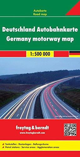 Freytag Berndt Autokarten, Deutschland Autobahnkarte - Maßstab 1:500.000 (freytag & berndt Auto + Freizeitkarten)