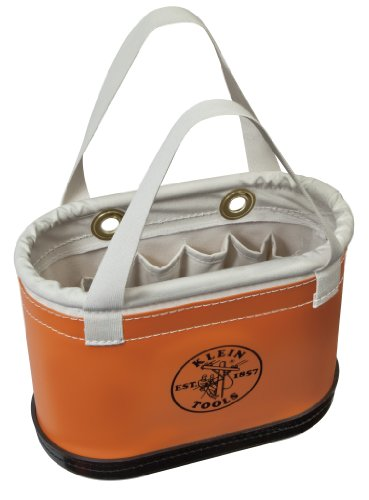 (Hard Body Oval Bucket Orange/White Klein Tools 5144BHHB )