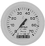 Faria Beede Instruments Faria Dress White 4'' Tachometer W/systemcheck Indicator - 7,000 Rpm (gas - Johnson/Evinrude Ou