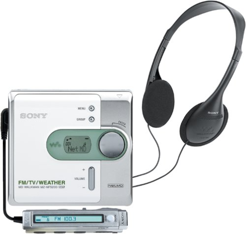 Sony MZ-NF520D Net MD Walkman (White) by Sony