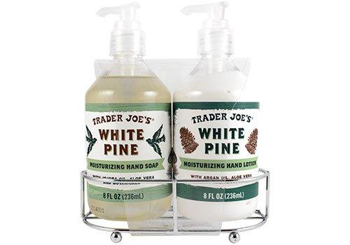 (Trader Joe's White Pine Moisturizing Hand Soap & Hand Lotion Set)