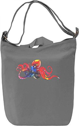 Charming Octopus Borsa Giornaliera Canvas Canvas Day Bag| 100% Premium Cotton Canvas| DTG Printing|