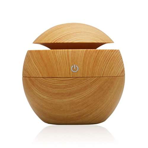 Compia USB Wood Aroma Humidifier Office Desktop Aromatherapy Machine Ultrasonic Humidif Essential Oil Diffuser