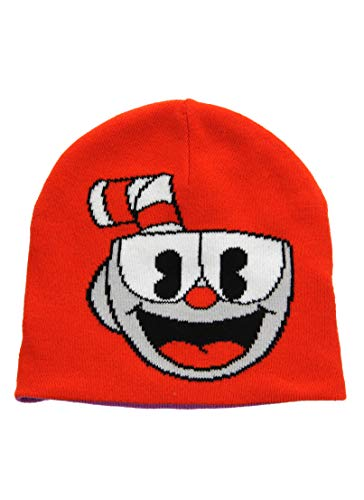 (elope Cuphead Bad End Reversible Knit Beanie)