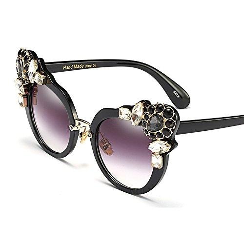 Con La De Verano De Mujer Marrón De Moda Gafas Gato black De Sexy Uv400 Claro Lujo Ojo TIANLIANG04 Cristal Sol De De Gato Gafas Mujeres Ojo Para De SaT7w7Oq