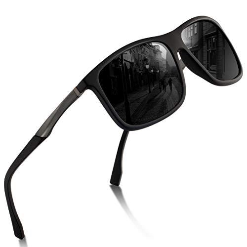 Sport Sonnenbrille Herren – Polarisierte Sonnenbrille für Herren und Damen UV Schutz Leichter Rahmen zum Radfahren Skifahren Autofahren Fischen Laufen Wandern Sport Verspiegelte Sonnenbrille Damen