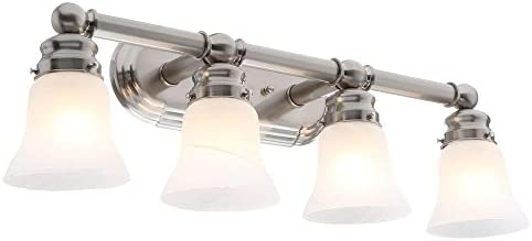 Hampton Bay 4-light Brushed Nickel Bath Light