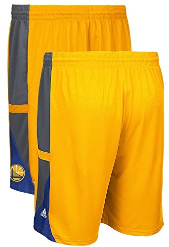 Golden State Warriors Gold Core Mesh Tip-Off Performance Basketball Shorts (Adidas Mens Nba Performance Short)