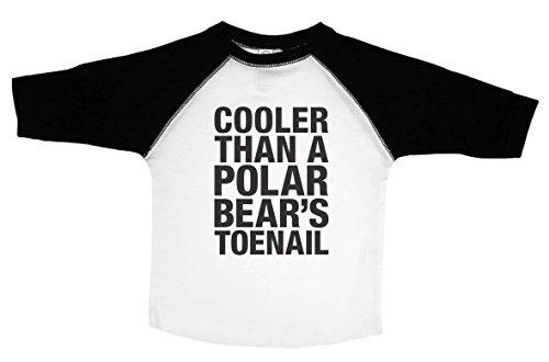 Baffle Outkast Toddler Tee/Polar Bears TOENAIL/90's Rap Toddler Shirt (2T, BW Raglan) -
