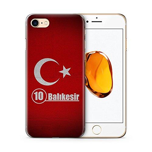 Balikesir 10 Türkiye Türkei Hülle für iPhone 7 SLIM Hardcase Cover Case Handyhülle Tasche Turkey Bayrak