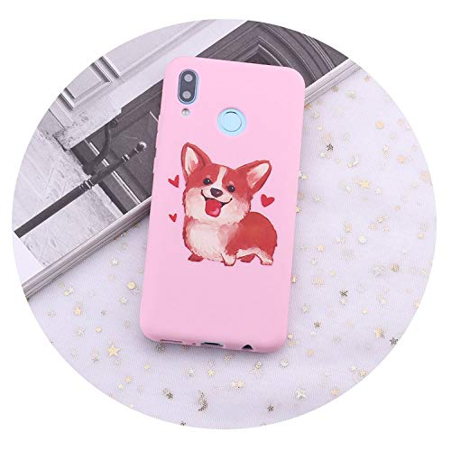 for Huawei Honor Mate 10 20 Nova P20 P30 P Smart Corgi Husky Pug Puppies Candy Silicone Phone Case Cover Capas Coque,1,Honor 8X