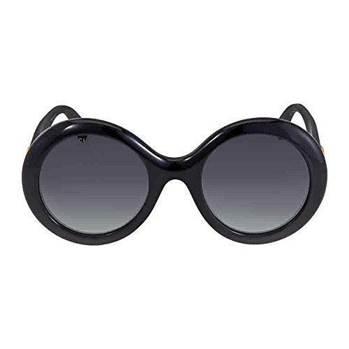 Gucci Round Sunglasses (Sunglasses Gucci GG 0101 S- 001 BLACK/GREY)
