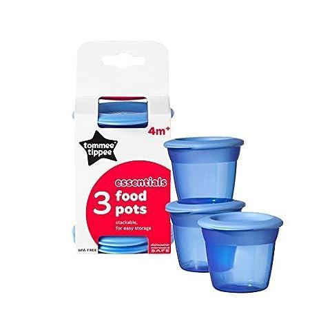 TOMMEE TIPPEE Essentials Bebé Alimentación Macetas con Tapas ...