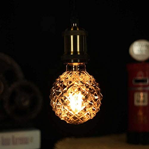 Lumen Leuchtmittelfarbwechsel Farbige Leuchtmittel G95 Äußeres Ananasförmiges Licht Led Filament Retro Gun Schwarz Rauchgraues Geformtes Dekoratives Balllicht 220V 4W