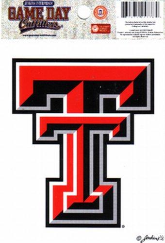 NCAA Texas Tech Red Raiders Small Window Decal/Stickers