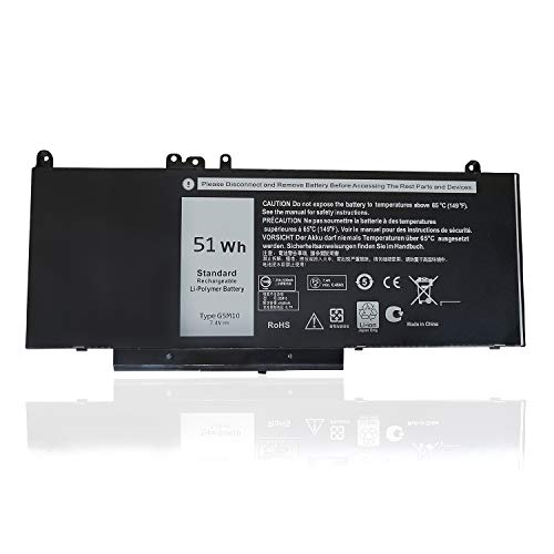 "G5M10 Battery,Texmiy Replacement Laptop Battery Compatibale with Dell Latitude E5450 E5550 Notebook 15.6"", Fit for 8V5GX R9XM9 WYJC2 1KY05 - [7.4V 51Wh]"