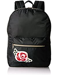 T-Shirt & Jeans Nylon Back Pack with Rose Patch