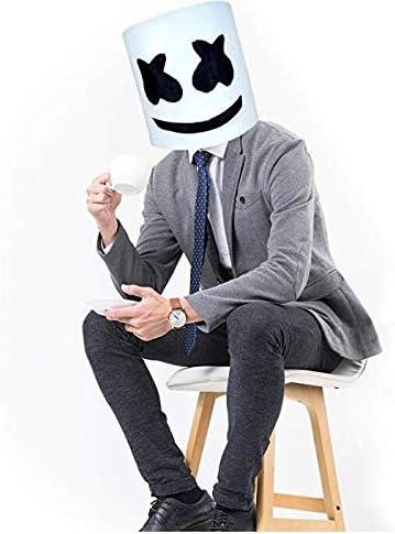 Máscara de Marshmallow para disfraz de Halloween, DJ; máscara para ...