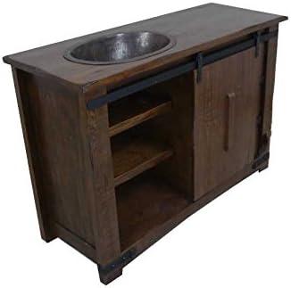 Brown Farmhouse - Puerta corredera para baño, lavabo individual: Amazon.es: Bricolaje y herramientas