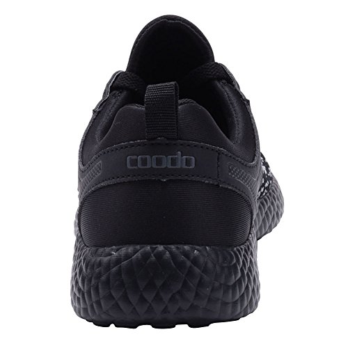 coodo cd9002camiseta ligera de moda Zapatillas Casual Deporte Zapatos BLACK/BLACK (UK:5.5-11)