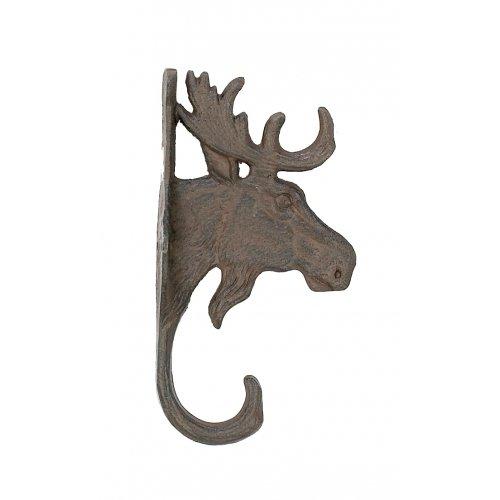 Cast Iron Moose Head Wall Key Rack Holder Hooks Coat Hook Home Decor