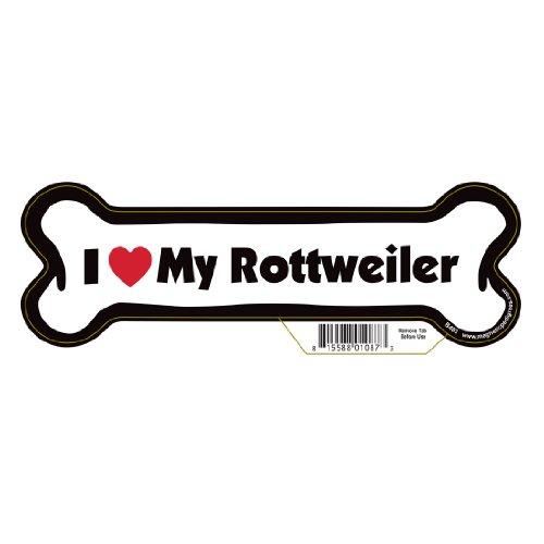 Rottweiler Dog Bone Magnet