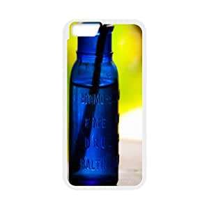 Okaycosama Funny IPhone 6 Cases Cobalt Bottle for Men, Luxury Genuine Case for Iphone 6, [White]