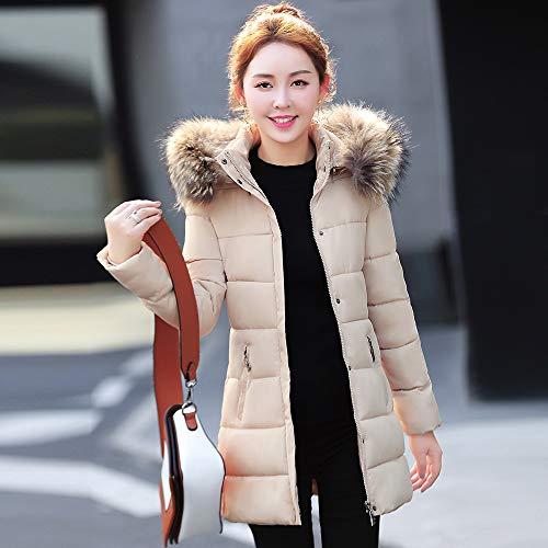 Cappotto Down Manica VICGREY inverno Piumino Autunno leggero Caldo giacca Colletto Donna Cappotto Khaki Lunga Con Cappuccio fxwBRqwd