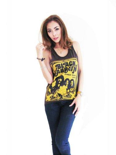 e51c2b5516f7b0 Bunny Brand Women s Black Sabbath bloody sabbath World Tour 1978 Tank Top  Vest T-Shirt