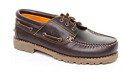 0311d247db9 Image Unavailable. Image not available for. Colour  Mens Lumberjack Barca  Boat Shoe Dark Brown ...