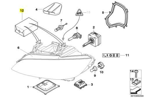 Amazon Com Genuine Bmw 3 Series E90 E92 E93 Headlight Tab Repair