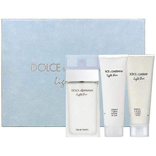 DOLCE GABBANA Light Blue 3 Piece Eau De Parfums Set for Wome