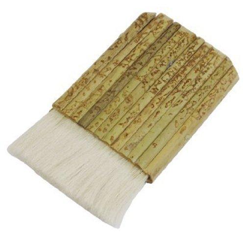 Lack-Pinsel - TOOGOO(R) 3' Breite Khaki Bambusgriff Kunstholz weiss Malerpinsel pinsel