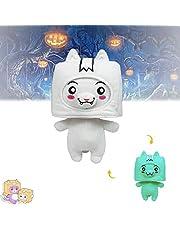 QWA Lankybox Sticky n Canny Pluche, Foxy en Boxy Verwijderbare Lankybox Pluche Ghost Glow in The Dark Gift voor Kinderen en Fans (Foxy)