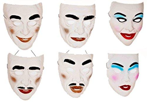 Forum Novelties Mens Transparent Mardi Gras Mask
