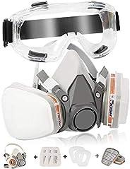 Zelbuck Dustproof Face Cover Professional Reusable Half Facepiece Cover Against Dust, Organic Gas/Vapors, Poll