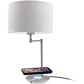 Macally Wireless Charging Lamp With Usb Port Led Light