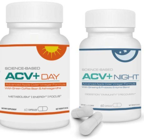 (ACV+ - Apple Cider Vinegar Plus Daytime & Nighttime Capsules - Advanced Apple Cider Vinegar Formula )