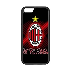 AC Milan For iPhone 6 Plus 5.5 Inch Case Cell phone Case Smmf Plastic Durable Cover